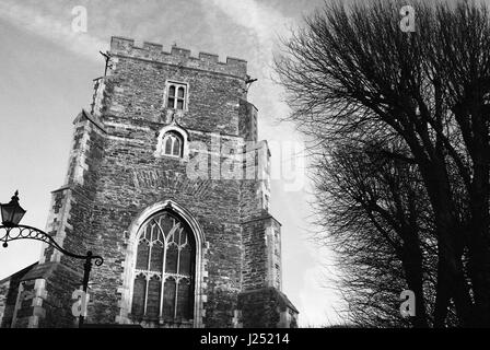 All Saints church in Hastings Old Town, East Sussex, UK - Stock Photo