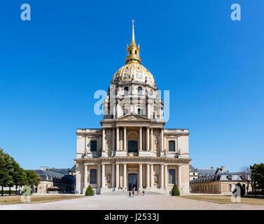Dome des Invalides at Les Invalides, Paris, France - Stock Photo