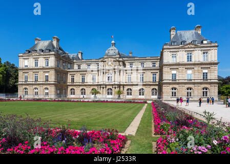 The Palais du Luxembourg (Luxembourg Palace), Jardin du Luxembourg (Luxembourg Garden), Paris, France - Stock Photo