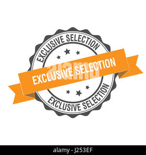 Exclusive selection stamp illustration - Stock Photo