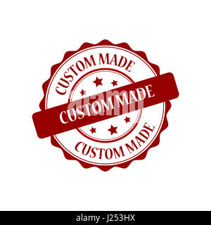 Custom made stamp illustration - Stock Photo