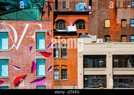 View of New York taken from the High Line in Chelsea, New York, New York - Stock Photo