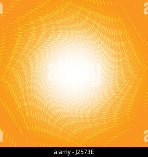 Twisted white dots halftone on orange background for abstract background concept - Stock Photo