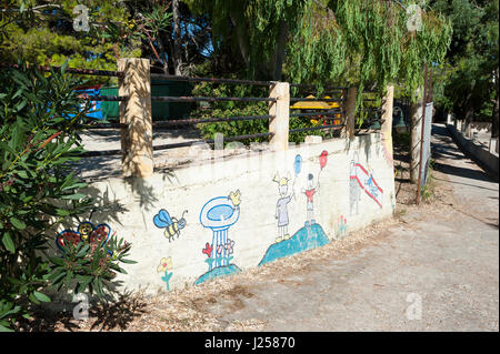 Playground in Atheras, Kefalonia, Ionian Islands, Greece, Europe - Stock Photo