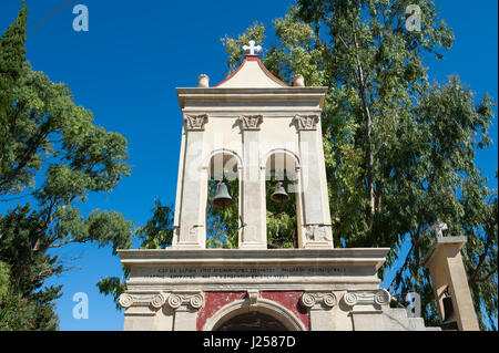 Church in Atheras, Kefalonia, Ionian Islands, Greece, Europe - Stock Photo