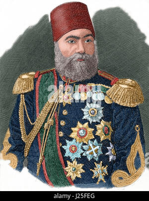 Osman Nuri Pasha, also Gazi Osman Pasha (1832-1900). Ottoman Turkish field marshal and the hero of the Siege of - Stock Photo