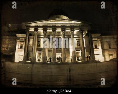 The National Gallery, London, England, UK - Stock Photo