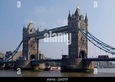 Tower Bridge, London, England, United Kingdom, Europe - Stock Photo