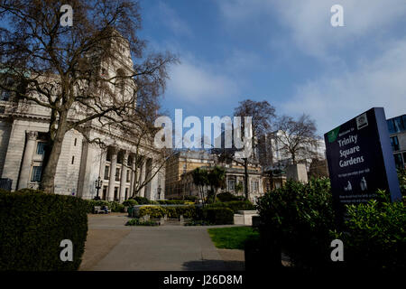 Four Seasons Hotel at Ten Trinity Square, London, England, UK, Europe - Stock Photo