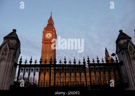 Big Ben and the Houses of Parliament, London, England, UK, Europe - Stock Photo
