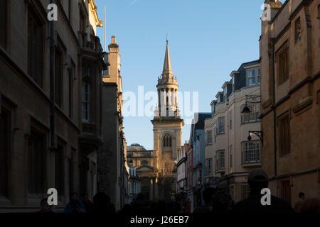 All Saints Church on Turl Street in Oxford, Oxfordshire, England, United Kingdom - Stock Photo
