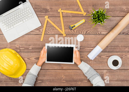 Architect working on project - Stock Photo