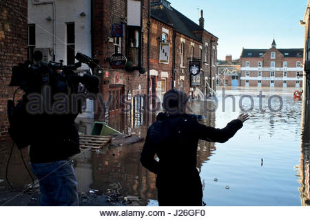The flooded City of York the day after Boxing Day 2016, Yorkshire, UK. - Stock Photo