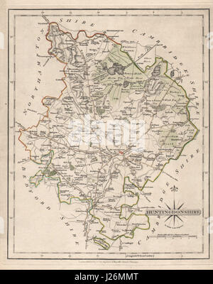 Helpful Antique County Map Of Huntingdonshire By John Cary Kimbolton St Neots 1793 Europe Maps