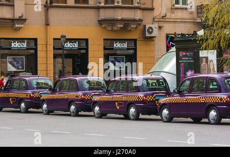 Taxi on street - Stock Photo
