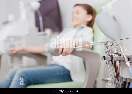 Close up of ENT instruments being ready for work - Stock Photo