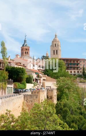 View from Ronda de Don Juan II. Segovia, Castilla Leon, Spain. - Stock Photo