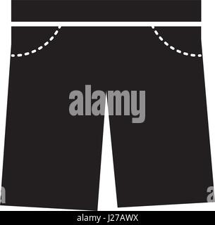 masculine short clothes icon - Stock Photo