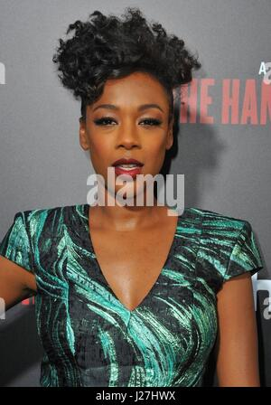 Los Angeles, CA, USA. 25th Apr, 2017. Samira Wiley at arrivals for THE HANDMAID'S TALE Screening Premiere on HULU, - Stock Photo