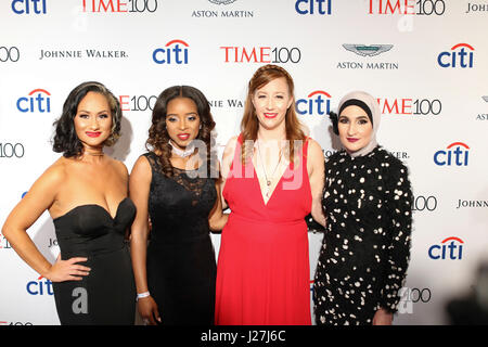 New York, USA. 25th Apr, 2017.  Women's March National Co-Chairs Carmen Perez, Bob Bland, Tamika D. Mallory, and - Stock Photo