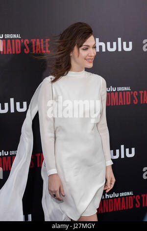 Los Angeles, USA. 25th Apr, 2017. Violett Beane arrives at Hulu's #|#The Handmaid's Tale#|# Premiere at the ArcLight - Stock Photo