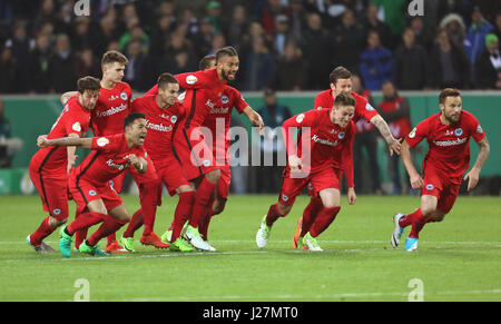 Moenchengladbach, Germany. 25th Apr, 2017. DFB Pokal Halbfinale, Borussia Moenchengladbach - Eintracht Frankfurt, - Stock Photo