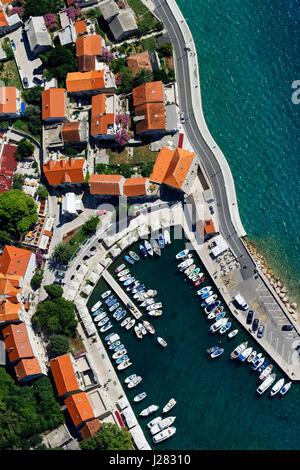 Aerial photo of Bol town on Brač island, Croatia - Stock Photo