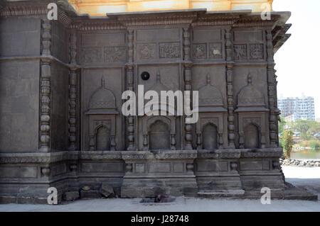 Side wall of Shri Wagheshwar Shiva Temple, Wagholi, Pune, Maharashtra, India