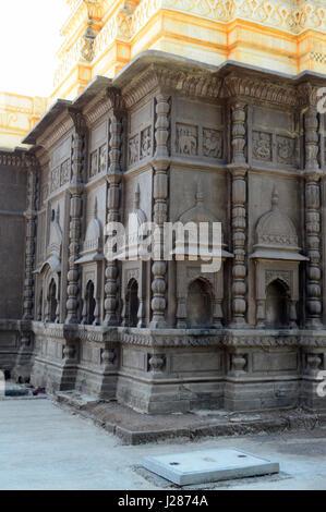 Outer walls of Shri Wagheshwar Shiva Temple, Wagholi, Pune, Maharashtra, India