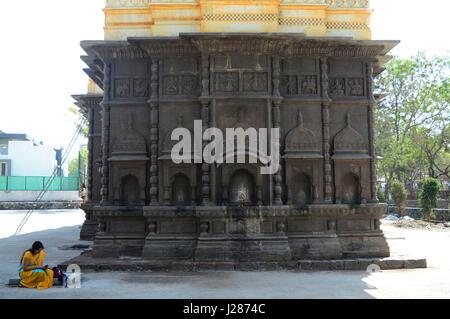 Back side wall of Shri Wagheshwar Shiva Temple, Wagholi, Pune, Maharashtra, India