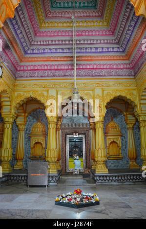 Inside view of Shri Wagheshwar Shiva Temple, Wagholi, Pune, Maharashtra, India