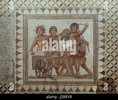 Mosaico de baco Ecija Museo Arqueológico de Sevilla Archeological Museum of Seville - Stock Photo