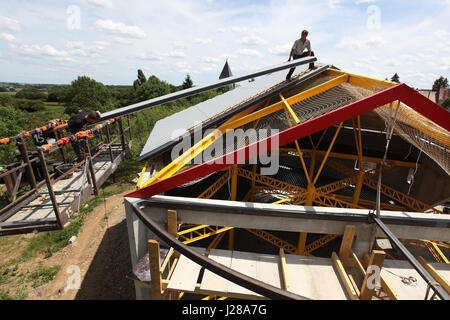 Detached House Construction Roof Covering Of Marley