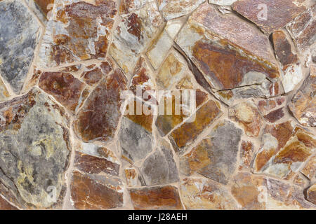 Wall cladding made of stone - Stock Photo