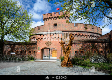 KALININGRAD, RUSSIA - APRIL 22, 2017: Defensive tower Dona, old german military fortification, was built in 1853, - Stock Photo