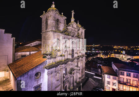 Igreja dos Grilos church and convent (literally Cricket's Church) in Porto city on Iberian Peninsula, second largest - Stock Photo