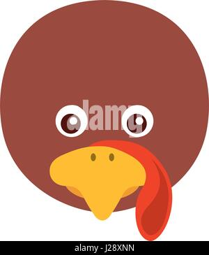 Thanksgiving turkey character icon - Stock Photo