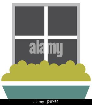 windows house style isolated icon - Stock Photo
