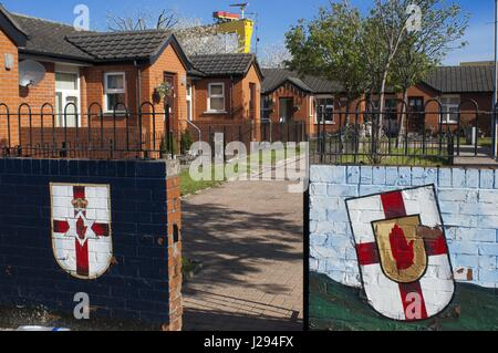 Sandy Row is a Protestant working class community in south Belfast, Northern Ireland, UK. It has a population of - Stock Photo