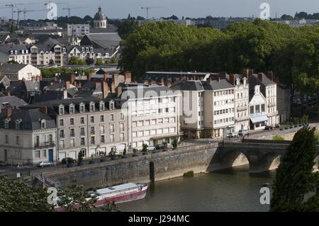 Angers, the city on the Maine river bank, maine and Loire Valley, France. - May 2016 | usage worldwide - Stock Photo