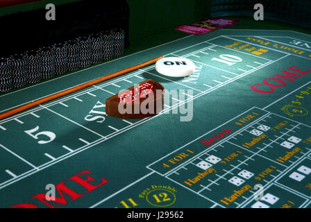 Casino Table - Fun night at a corporate event - Stock Photo