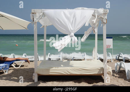 Gazebo on the beach - canopy - Stock Photo