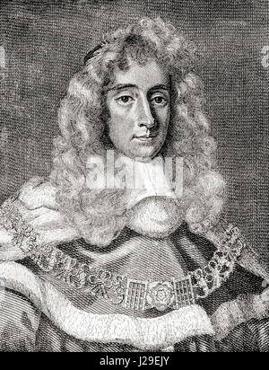George Jeffreys, 1st Baron Jeffreys of Wem, 1645 – 1689, aka The Hanging Judge.  Welsh judge and Lord Chief Justice - Stock Photo