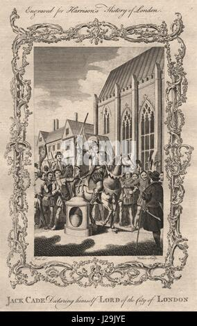 JACK CADE REBELLION. Cade declaring himself Lord of the City of London 1776 - Stock Photo