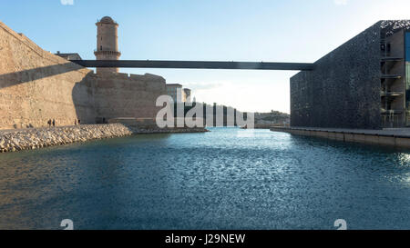 France, South-Eastern France, French Riviera, Marseille, MuCEM (Museum of European and Mediterranean Civilisations), - Stock Photo