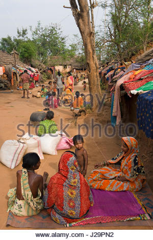 India, Orissa, Sadaibarini, untouchable village specialized in the foundry of objects - Stock Photo