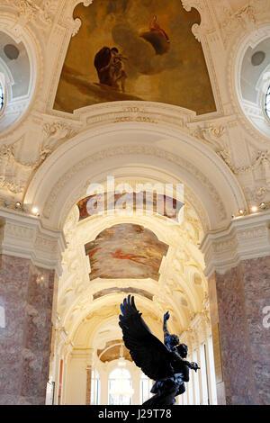 France, Paris, 8th district, Petit Palais, entrance hall, sculpture by Antonin Mercie. - Stock Photo
