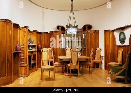 France, Paris, 8th district, Petit Palais. Reconstitution of a Guimard style room - Stock Photo