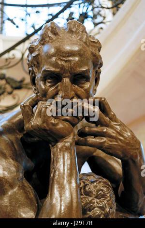 France, Paris 8th district, Petit Palais. plaster sculpture 'Ugolino', by Jean-Baptiste Carpeaux. - Stock Photo