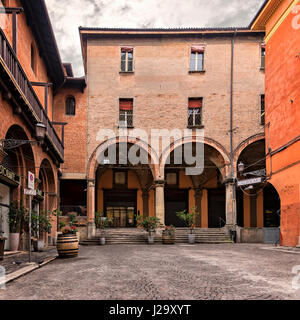 BOLOGNA, ITALY - FEBRUARY 08, 2017. City street corner. - Stock Photo